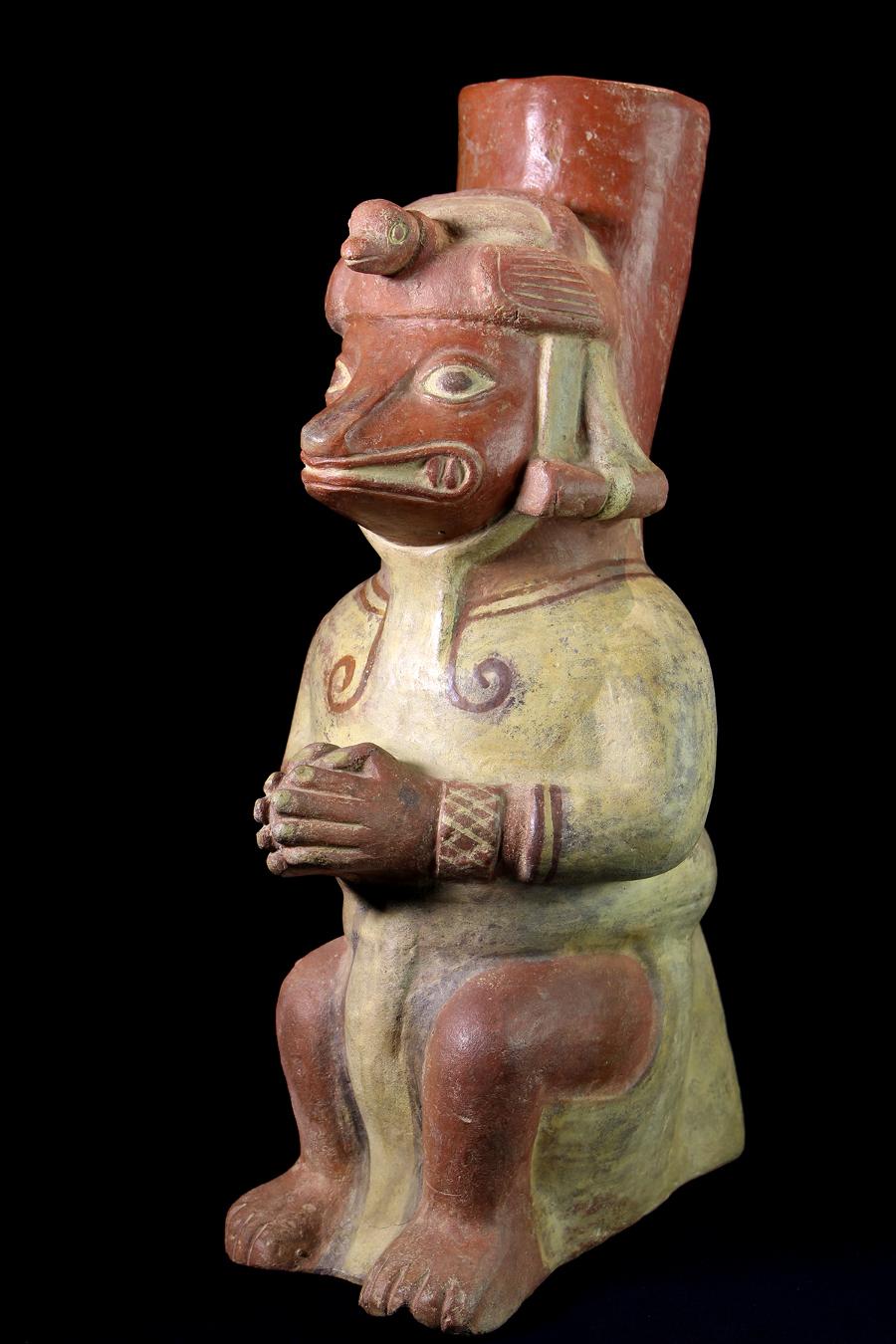 Alexander Ancient Art A Large Moche Anthropomorphic Fox