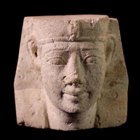 An Egyptian Limestone Sculptor's Model